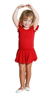 Child Ruffle Sleeve Leotard