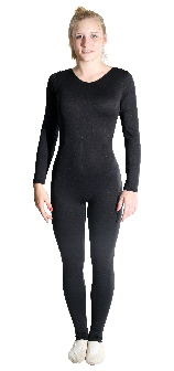 long sleeve scoop neck unitard